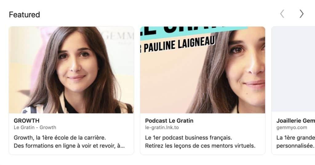 Exemple du profil de Pauline Laigneau qui utilise Linkedin pour son entreprise Gemmyo